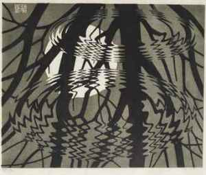 maurits_cornelis_escher_rimpeling_rippled_surface_
