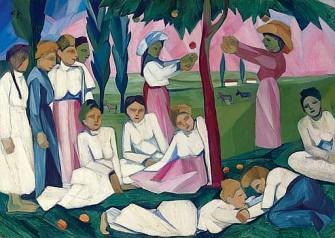 Natalia Goncharova Picking Apples